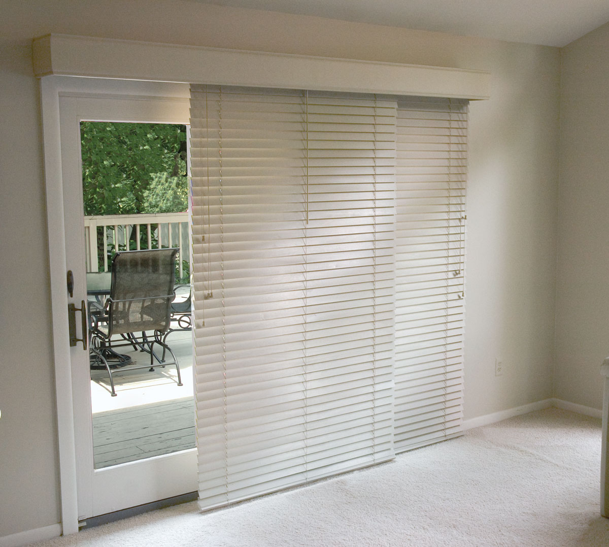 glider blinds horizontal blinds for patio doors - Blinds For Patio Doors